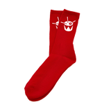 triple j Drum Socks (Red / White)