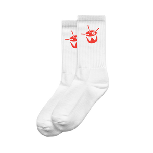 triple j Drum Socks (White)