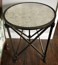 Load image into Gallery viewer, (SOLD) GORGEOUS Rustic Modern Copper-Gold Clawfoot Metal Side/Accent Side Table in Excellent Condition!! 18C 21H