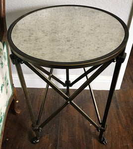 (SOLD) GORGEOUS Rustic Modern Copper-Gold Clawfoot Metal Side/Accent Side Table in Excellent Condition!! 18C 21H