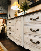 Load image into Gallery viewer, (SOLD) Gorgeous Vintage High-End XLarge Thomasville French Country Dresser/Media/Entryway/Buffet with Beautiful Details and Hardware!!