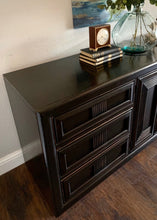 Load image into Gallery viewer, (SOLD) SIMPLY BEAUTIFUL Restoration Hardware inspired MID CENTURY 9Drawer Dresser in Excellent Solid Condition! BLACK Beauty!!