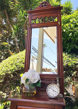 Load image into Gallery viewer, (SOLD) Stunning Vintage Tall Tree Entryway Hat/Coat Rack (with Bevelled Mirror!) with Gorgeous Details!! 80H 20W 16D
