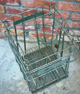 Heavy Duty 1960s Vintage Egg Crate Wire Large Farmhouse Basket by Barn Light Electric. This piece can be used as indoor Storage Basket!!