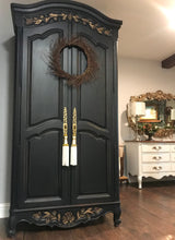 Load image into Gallery viewer, (SOLD) Gorgeous Vintage French Country Armoire/Dresser/Media/Storage/Entryway with Beautiful Details!!