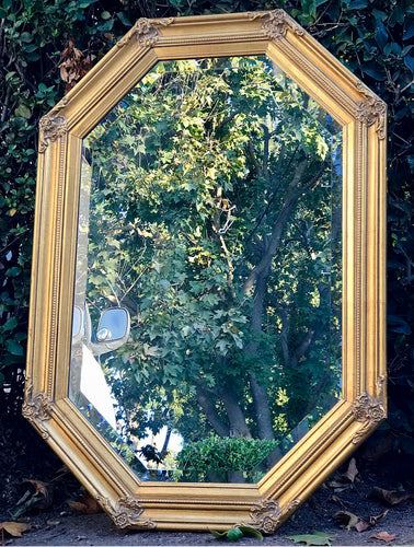 Gorgeous High-End Windsor Art French Country Octagon Accent Mirror with Bevelled Glass!! Beautiful Details and Solid Wood Frame!!