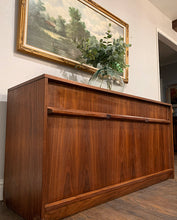 Load image into Gallery viewer, (SOLD) Simply Beautiful MID CENTURY MODERN Custom Built Credenza-Buffet-Media-Storage-Entryway in Superb Condition!! Perfect Versatile MCM BEAUTY for Minimalist and Wood Lover!!