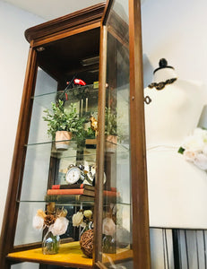 (SOLD) Gorgeous Vintage French Country Lighted Display Cabinet/Storage/Bookshelve with Beautiful Details and Hardware!!