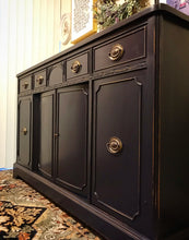 Load image into Gallery viewer, (SOLD) Gorgeous Restoration Hardware inspired 1930s Sideboard/Buffet/Credenza/Media/Console with Beautiful Details and Hardware!!
