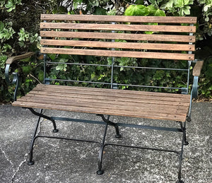 (SOLD) Gorgeous and Unique Outdoor Bench in Excellent Condition. Beautifully Constructed and Sturdy!!
