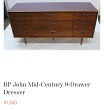 Load image into Gallery viewer, (SOLD) Simply Beautiful High-End BP John Danish Mid Century Modern Dresser/Media/Credenza/Sofa Table/Entryway in Superb Condition!!