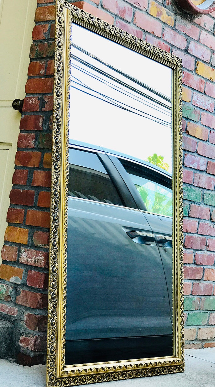 (SOLD) Goodbye to this Gorgeous Heavy Duty Decorative French Country Full Length Mirror 60X35