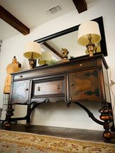 Load image into Gallery viewer, (SOLD) STUNNING Vintage Jacobean Buffet/Entryway/Credenza/Media in Superb Condition. Perfect Piece for Vintage and Wood Lover!!