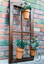 Load image into Gallery viewer, (SOLD) Gorgeous French Country Indoor/Outdoor Wood and Wrought Iron Plant Holder. Perfect Organic Decor any spot in your Nest!!