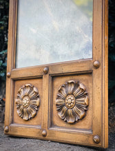 Load image into Gallery viewer, (SOLD) Gorgeous Vintage Decorative Wall Mirror with Beautiful Hand-Carved Floral Design. Perfect As-Is Antique Looking Decorative Mirror!!