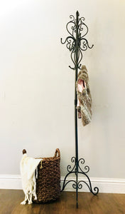 (SOLD) Gorgeous and Versatile French inspired Metal Coat-Hat-Key Rack in Excellent Condition!!!