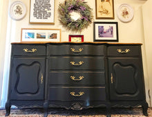 Load image into Gallery viewer, (SOLD) Gorgeous Vintage French Country Serpentine Buffet/Sideboard/Media/Dresser/Entryway!! 65X33X20