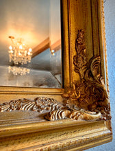 Load image into Gallery viewer, (SOLD) Gorgeous Large Vintage Decorative Bevelled French Country Mirror with Beautiful Design and Excellent Condition!!