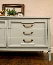 Load image into Gallery viewer, (SOLD) Gorgeous Newly ReDesigned 3PC Mid-Century Modern Bedroom Set Dresser and 2 Nightstands in Excellent Condition!!