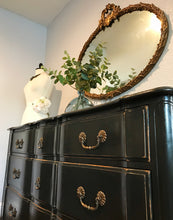 Load image into Gallery viewer, (SOLD) Gorgeous Vintage Rustic Restoration Hardware inspired French Country Serpentine 9Drawer Dresser/Buffet/Media/Entryway/Console!!