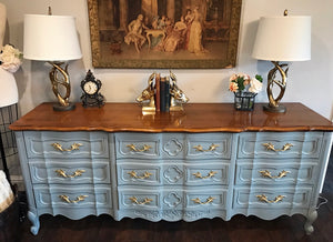 (SOLD) GORGEOUS Vintage Extra-Large High-End W&J Sloane French Provincial Dresser/Buffet/Media/Entryway 79X32X20