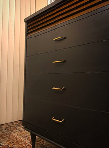 (SOLD) Gorgeous Restoration Hardware inspired Mid-Century Modern Chest of Drawers with Beautiful Design and Solid Wood!!