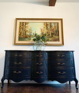 (SOLD) Gorgeous Modern French Country Dresser/Media/Buffet/Entryway/Console/Sofa Table in Superb Condition. Perfect Versatile BEAUTY!!