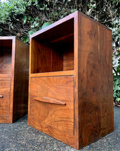 Load image into Gallery viewer, (SOLD) Gorgeous Mid-Century Modern Set of Nighstands/Side/End Tables with Beautiful Wood Grain. Versatile Clean Line BEAUTIES!!