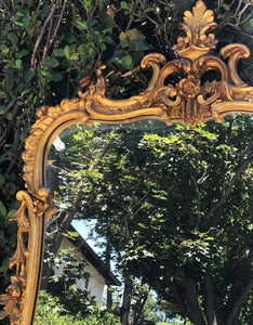 (SOLD) Stunning Antique Victorian High-End Friedman Brother Hand Carved Frame Gold Gilt Mirror in Excellent Condition!! 44X28