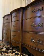 Load image into Gallery viewer, (SOLD) Gorgeous Vintage 4PC High-End Bassett French Country Bedroom Set (Dresser, Mirror and 2 Nighstands)