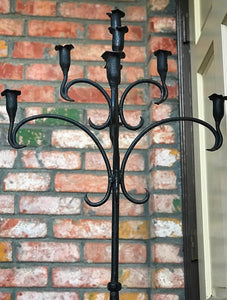 (SOLD) GORGEOUS Antique 1920s French Heavy Duty Wrought Iron Floor Candle Holder in Excellent Condition!! BEAUTY!!!