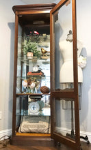 Load image into Gallery viewer, (SOLD) Gorgeous Vintage French Country Lighted Display Cabinet/Storage/Bookshelve with Beautiful Details and Hardware!!