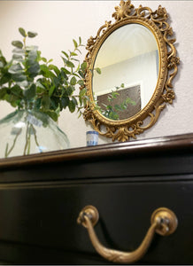 (SOLD) GORGEOUS Vintage to Modern French Queen Anne Desk/Vanity with Glass Top (rococco style mirror optional!) in Superb Condition!!