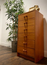 Load image into Gallery viewer, (SOLD) Simply Beautiful Danish Teak Mid Century Modern Chest of Drawers in Great Condition. Perfect Beauty for Minimalist indeed!!