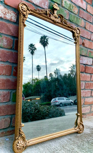 (SOLD) Stunning 1930s Victorian Decorative Wall Mirror with Beautiful Design. Perfect for Victorian-Antique Lover!!
