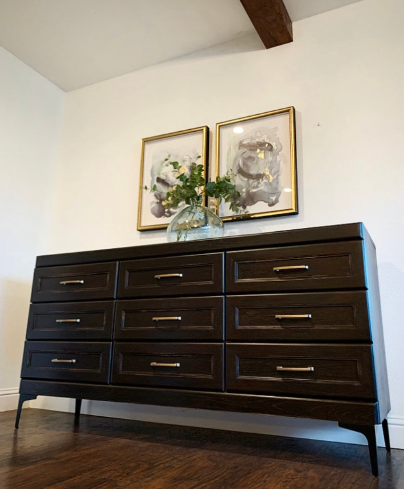 (SOLD) Simply Beautiful Restoration Hardware inspired Dresser/Media/Entryway/Buffet in Superb Condition. Perfect ReDesigned Statement Modern-Contemporary Piece!!