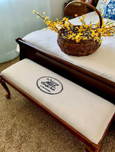 Load image into Gallery viewer, (SOLD) Gorgeous Vintage French Country Newly Upholstered Bed-End/Bench in Excellent Condition. Perfect Decorative Vintage BEAUTY!!
