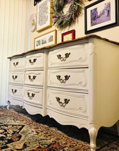 Load image into Gallery viewer, (SOLD) Gorgeous High-End Bassett French Country Dresser/Media/Entryway/Buffet/Console with Beautiful Design and Hardware!!