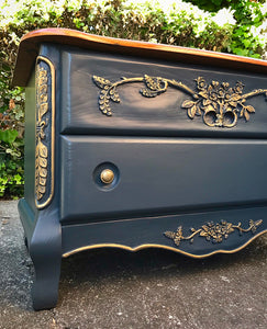 (SOLD) GORGEOUS High-End Modernized French-Victorian Hope Chest/Bench/Bed End with Beautiful Details and Excellent Condition!! 40W 24H 21D