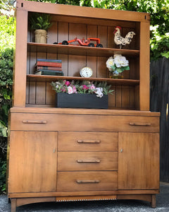 (SOLD) Simply BEAUTIFUL 1PC Versatile MID-CENTURY MODERN  Hutch/China/Bookshelf/Display Cabinet made by Empire Furniture Co. BEAUTY!!!