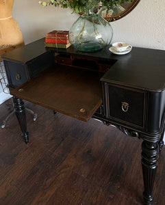(SOLD) Gorgeous 1930s Victorian Writing Desk with Beautiful Details and Superb Condition!! Perfect Rustic Modernized Piece for Antique-Victorian Lover!!