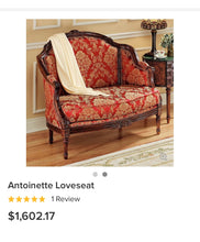 Load image into Gallery viewer, (SOLD) Gorgeous High-End French-Victorian Decorative Tufted Settee-Loveseat with Gorgeous Details and Beautiful Fabric!!