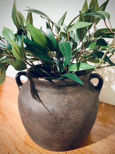 (SOLD) Gorgeous Restoration Hardware inspired Vessel/Vase (my version!) in Superb Condition. Perfect Decorative High-End Look for your Nest. This is a Modern Beauty indeed!!