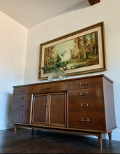Load image into Gallery viewer, (SOLD) Gorgeous Mid Century Modern 10Drawer Dresser/Media/Entryway/Buffet/Sofa Table/Console in Superb Condition. Perfect Versatile MCM Piece for Minimalist and Wood Lover!!