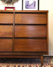 Load image into Gallery viewer, (SOLD) Gorgeous Mid-Century Modern 9Drawer Dresser/Buffet/Media/Entryway in Great Condition!!! Perfect Versatile BEAUTY!! 58X31X18