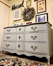 Load image into Gallery viewer, (SOLD) GORGEOUS and Newly ReDesigned Vintage High-End Bassett French-Victorian Dresser/Entryway/Media/Console/Buffet with Beautiful Details and Hardware!!