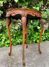 Load image into Gallery viewer, (SOLD) Stunning Vintage 1940s French Louis XV Style Decorative Table with Gorgeous Details and Floral Inlaid Top!!