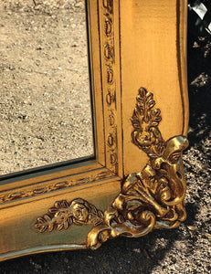 (SOLD) Stunning High-End Vintage A. J. Olson Large French Country Gold Gilt Wall/Floor Bevelled Mirror in Excellent Condition!!!