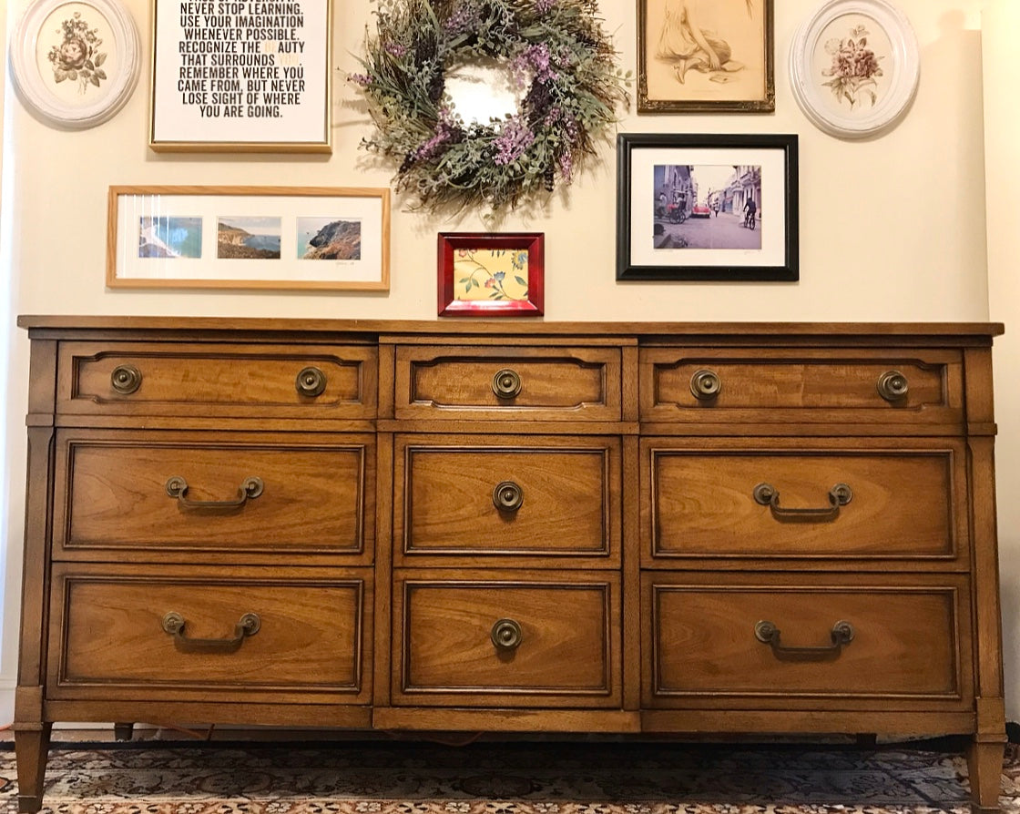 (SOLD) Set of Gorgeous High-End Drexel Mid-Century Modern Dresser and Chest of Drawers in Excellent Condition. Perfect MCM Pieces!!!