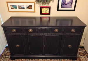(SOLD) Gorgeous Restoration Hardware inspired 1930s Sideboard/Buffet/Credenza/Media/Console with Beautiful Details and Hardware!!